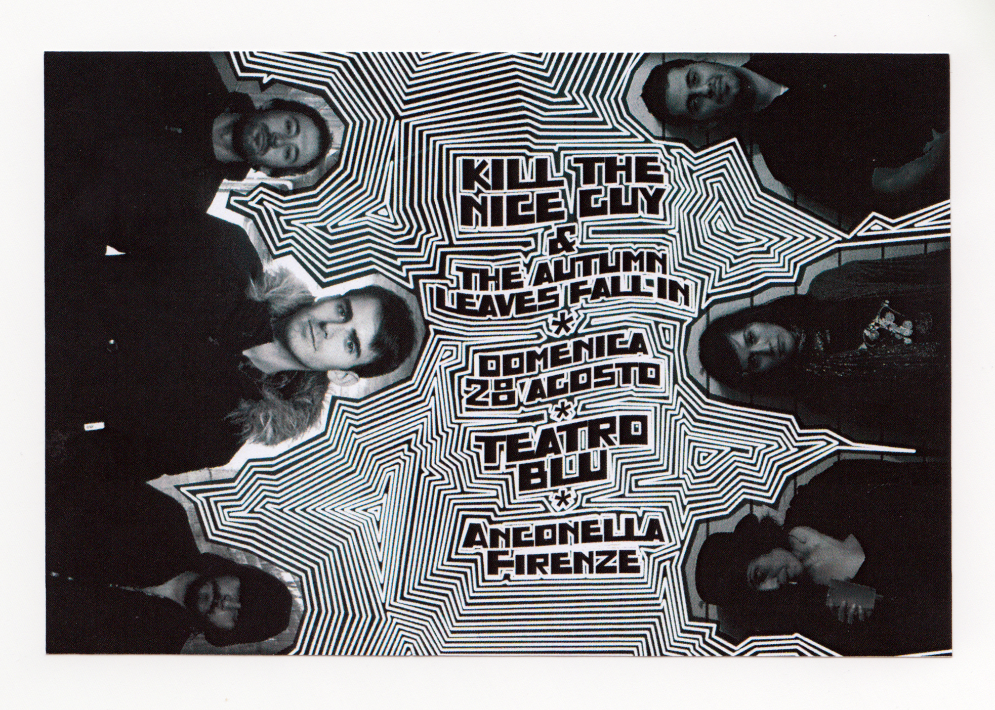 volantino kill the nice guy + the autumn leaves fall in